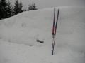 Sníh u přehrady Souš, 26.února 2005