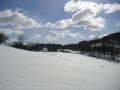 Zasněžená pastvina nad silnicí do Zlaté Olešnice, 27.února 2005
