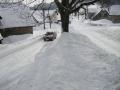 Sníh na křižovatce ve Sklenařicích, 12.března 2006