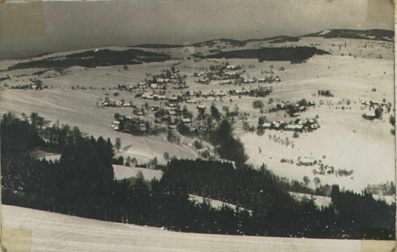 Sklenařice v zimě 1924 - 1925