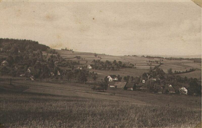 Sklenařice od kravína, v roce 1924