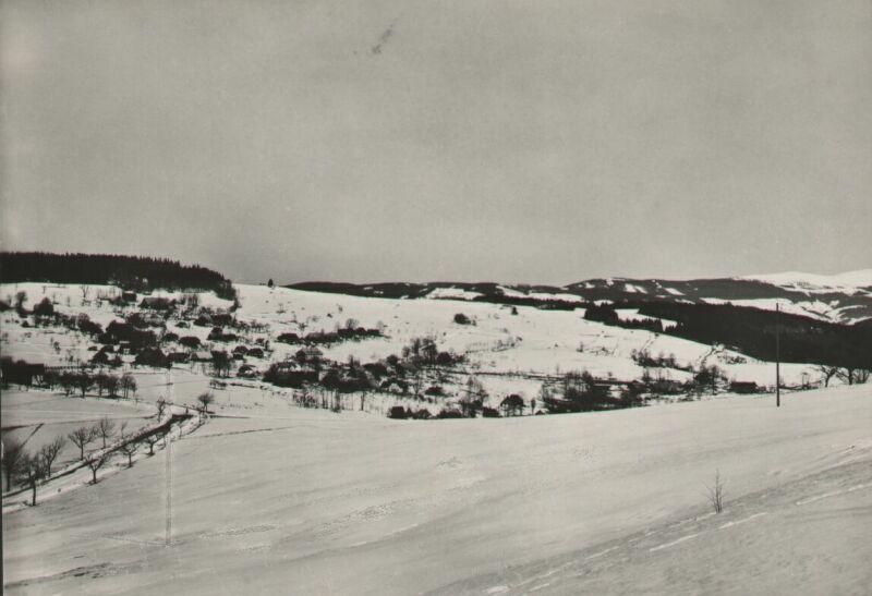 Sklenařice od Žantova kolena v roce asi v roce 1950