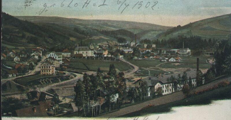 Pozdrav z Jablonečku z 6.července roku 1902