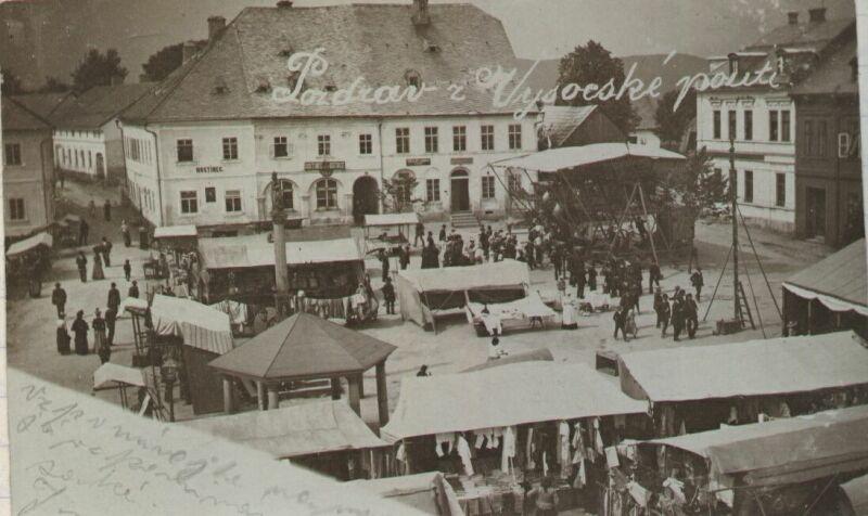Pozdrav z pouti ve Vysokém nad Jizerou z roku 1890