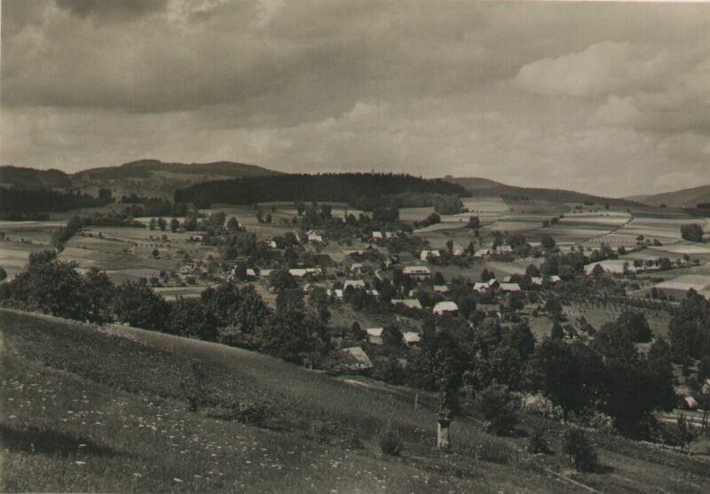 Sklenařice od Svatého Josefa, někdy v letech 1950 - 1953